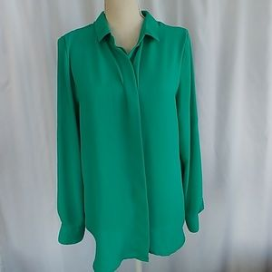 Like new teal button down blouse